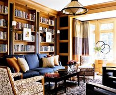 Traditional Home - library - Architect/Designers Harrison Design Associates with David Mitchell Interior Design Room, Small Apartment Decorating, Interior, Master Bedroom Interior Design, Cheap Home Decor, Home Decor, Room Inspiration, Interior Design Bedroom, Living Room Designs