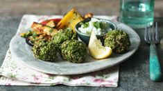 Edamame falafel with roasted veg