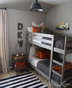 paint colour palette ideas for a boys bedroom using gray