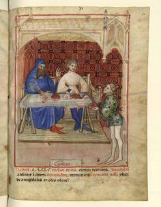 Nouvelle acquisition latine 1673, fol. 80, Aliment: écrevisses. Tacuinum sanitatis, Milano or Pavie (Italy), 1390-1400.