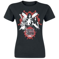 """Suicide Squad - Harley Quinn, Katana & Enchantress - front print - crew neck - fit: regular ONLY with us: The world is in great danger and has to be saved. But who's going to do this? The army? The police? Street gangs? Supervillains! In the movie """"Suicide Squad"""" supervillains like Rick Flag, Captain Boomerang, Harley Quinn and Enchantress are on the good side for once. But how long will this go well? Matching the movie we have the black Harley Quinn, Katana & Enchantress girls shirt re..."""