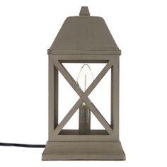 Taupe Distressed Metal Lantern Uplight