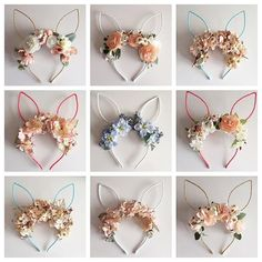 Drop 2 of the floral bunny ears is going to happen in 15 minutes over on my feed - half will be first email/comment wins so… Bunny Party, Easter Party, First Birthday Parties, First Birthdays, Easter Crafts, Crafts For Kids, Easter Hat Parade, Idee Baby Shower, Bunny Birthday