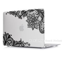 Batianda(TM) Floral Lace Air 11 12 13 Pro 13 15 Rubberized Frosted Matte Hard Case Cover for MacBook Pro 13.3 15.4'' with Retina
