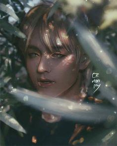 Fanart Bts, Taehyung Fanart, K Pop, Bts Girl, Kpop Drawings, Mood Wallpaper, School Art Projects, Human Art, Bts Chibi