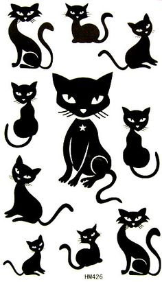 taobao agent Sexy little female cat black and white European and American art tattoo stickers tattoo stickers HM426 - TaoBao Agent, English Taobao, Taobao Outlet - Products Online from China taobao at obgame.com