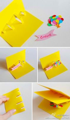 Diy Pop Up Cards . 22 Inspirational Diy Pop Up Cards . Lin Handmade Greetings Card Pop Up Cards Diy Birthday, Birthday Cards, Happy Birthday, Origami Birthday Card, Birthday Ideas, Homemade Birthday, Birthday Presents, Diy Paper, Paper Crafts