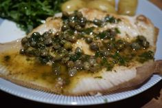 Skate wings with lemon & caper brown butter. Great served with Samphire too. #recipes