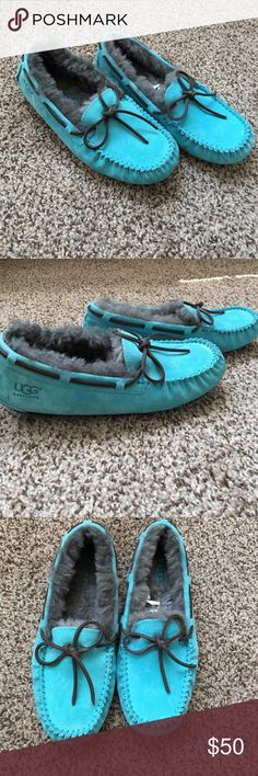Blue ugg moccasins Only worn a couple times, great condition UGG Shoes Moccasins