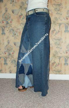 Cool jean skirt idea