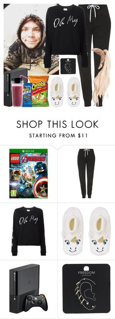 """Lazy day with Ashton. -----> *Cynthia."" by imaginegirlsdsos ❤ liked on Polyvore featuring Microsoft, Topshop and Zoe Karssen"