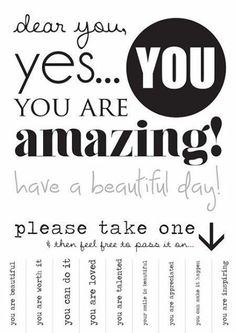 Photo: Take a tag, put in your pocket and remember you are Amazing!  #tags #remembrance #amazing #wonderful