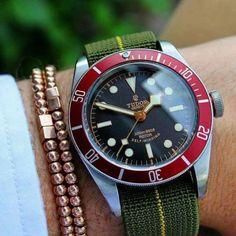 Marine-Nationale-diver-watch-strap-original-Nos-parachute-parts-Seiko-skx-Tudor