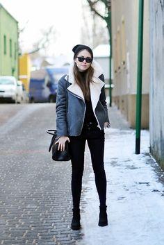 Winter faux shearling jacket