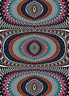Tribal Geometric No.2 Art Print, Amelia Graham