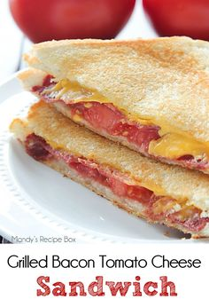 Grilled Bacon Tomato Cheese Sandwich is a delicious twist on the classic grilled…
