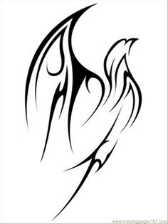 Flying Tribal Eagle Tattoo Coloring Page