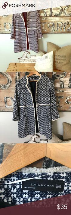 Zara open tweed coat duster Excellent condition Zara Jackets & Coats