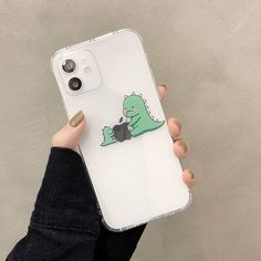 Cute Cartoon Green Dinosaur iPhone Case