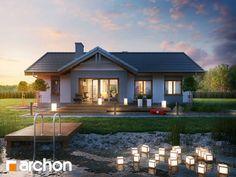 Encuentra las mejores ideas e inspiración para el hogar. Projekt domu ARCHON+ Dom w nerinach por ARCHON+ PROJEKTY DOMÓW   homify