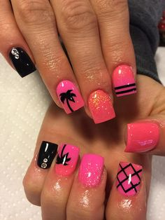 Black | X Marks The Spot Full Nail Decal Nail Art | Nail Decals| Full Nail Decal