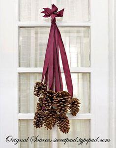Winter Wonderland Pinecones - May Arts Wholesale Ribbon Company