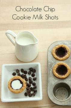 Homemade Chocolate Chip Cookie Milk Shots-- No need to wait in line!