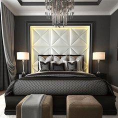 45 Elegant Small Master Bedroom Inspiration On A Budget Fancy Bedroom, Small Master Bedroom, Master Bedroom Design, Trendy Bedroom, Home Decor Bedroom, Modern Bedroom, Bedroom Wall, Master Bedrooms, Bedroom Designs