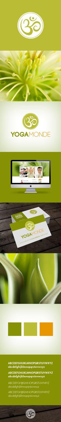 Identité de Yoga Monde - création de kryzalid.net