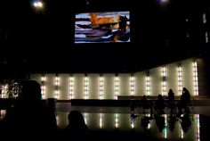 Martin Murphy's Film Spill at AD Projects' show at the Big Screen Plaza, 10.25.11