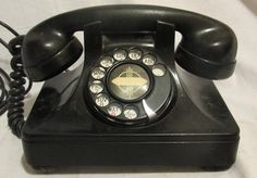Vintage Phone Art Deco Style Rotary Telephone by VintageQuiltStore, $59.99