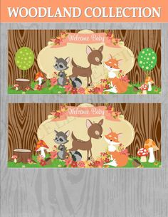 WOODLAND SHOWER - Baby Shower - Fox - Woodland BACKDROP