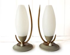 Pair of  French Table or Bed Lamps 1960s'  - Mid Century  Lamps on Etsy, $320.00