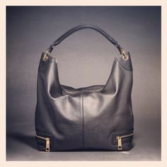 Autograph leather panelled 'hobo' style bag from Marks and Spencer