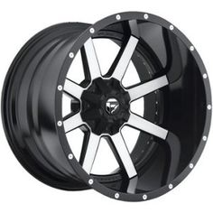 Fuel Maverick 22×10 Machined Black Wheel / Rim 8×170 with a -13mm Offset and a 125.20 Hub Bore. Partnumber D26122001750