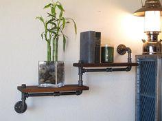The Original - Double Walnut Pipe Shelf