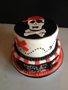 Pirate Birthday Cake - Jordan's looked just like this! She did a great job!!