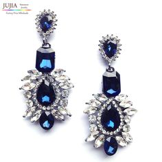 2017 New Arrival statement big crystal shourouk stud Earrings for women girl party earring Factory Price earring wholesale