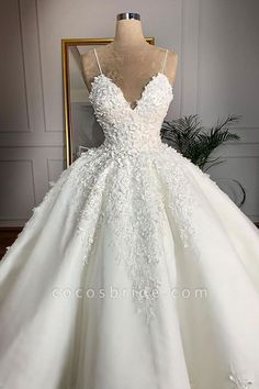 V Neck Satin Wedding Dresses Ball Gown Lace Embroidery Ball Gown Wedding Dresses Satin With Lace Embroidery – alinanova. Lace Wedding Dress, Princess Wedding Dresses, Best Wedding Dresses, Bridal Dresses, Floral Wedding, Modest Wedding, Ball Gown Wedding Dresses, Elegant Wedding, Wedding Shoes