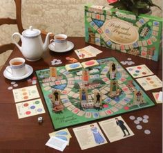 Pride & Prejudice board game - if this is real, I think I need this