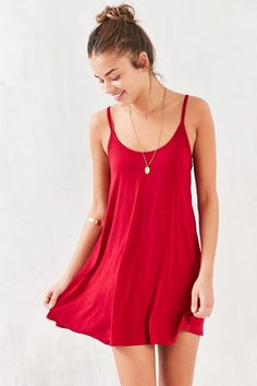 BDG Low Square-Back Mini Dress