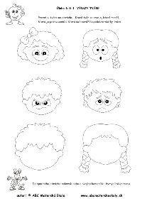 Karneval - výrazy tváre - pracovný list z ABC materské školy