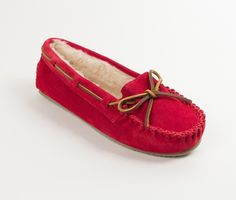 Minnetonka: Womens Cally Moccasin Slipper (Red)