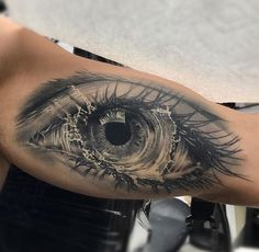 Beautiful Eye Tattoo, very realistic, body art, ink, skin,