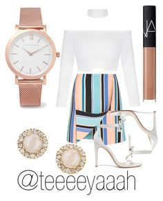 """""""outfit 11"""" by teeeeyaaah ❤ liked on Polyvore featuring Opening Ceremony, Alexandre Birman, NARS Cosmetics, Larsson & Jennings and Kate Spade"""