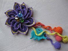 how to crochet flower, brosh free pattern