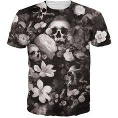 2XL Mens Skull 3D Printing Tees Shirt Short Sleeve T-Shirt Blouse Tops Mamum Men Skull Heads Poker 3D Printing O Neck T-shirt