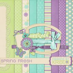 """Free scrapbook """"Spring Fresh"""" from Designs By Krista Full Size"""