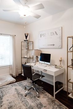 Home Office Decor | My One Small Blonde Blogger Boss Office