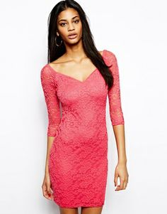 ASOS Off The Shoulder Mini Lace Bodycon Dress